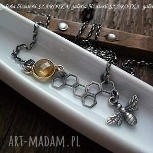 żółte naszyjniki cytryn w ulu naszyjnik z cytrynu i srebra
