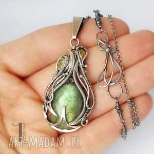 naszyjniki granaty waruna - srebrny wisior