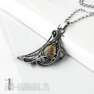 oryginalne naszyjniki kwarc-dymny watra - srebrny naszyjnik z kwarcem