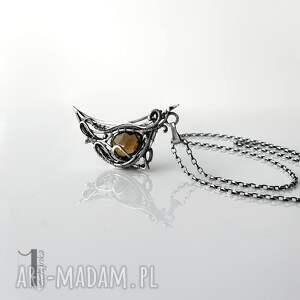naszyjnik-srebrny naszyjniki beżowe watra - srebrny naszyjnik z kwarcem