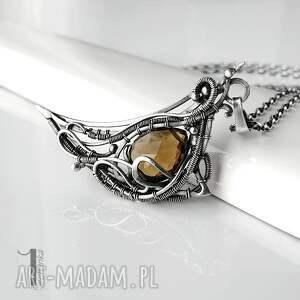 oryginalne naszyjniki naszyjnik-srebrny watra - srebrny naszyjnik z kwarcem