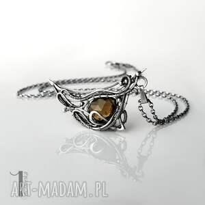 szare naszyjniki naszyjnik-srebrny watra - srebrny naszyjnik z kwarcem