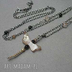 da56d95f823ba3 srebrne naszyjniki pozłacane naszyjnik wykonany ze srebra i. srebro  oksydowane naszyjniki złote ważka swarovskiego ...