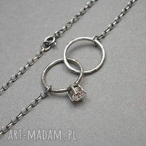 białe naszyjniki srebro wedding - naszyjnik
