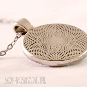 turkusowe naszyjniki medalion wenecja - duży