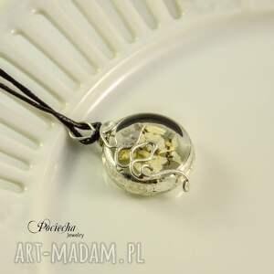 naszyjniki naszyjnik white flowers - terrarium