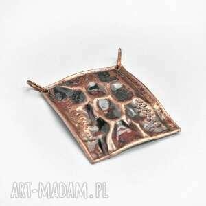 naszyjniki naszyjnik wisior miedziany z obrożą ze stali