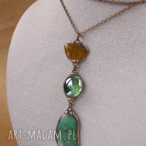 ciekawe naszyjniki długi naszyjnik wisior z łańcuszkiem: zielono