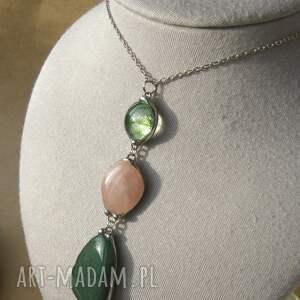 ręczne wykonanie naszyjniki długi-naszyjnik wisior z łańcuszkiem: zielon0