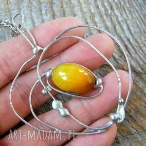 jabłko naszyjniki pomarańczowe wisior z łańcuszkiem: jabłuszko z
