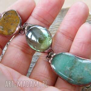 długi naszyjnik naszyjniki zielone wisior z łańcuszkiem: zielono