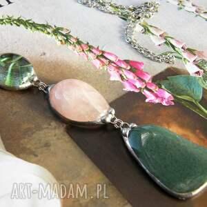 długi-naszyjnik naszyjniki zielone wisior z łańcuszkiem: zielon0
