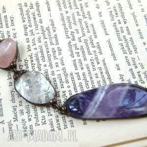 długi naszyjnik naszyjniki fioletowe wisior z łańcuszkiem