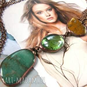 ciekawe naszyjniki wisiorek awenturyn wisior z łańcuszkiem: zielono