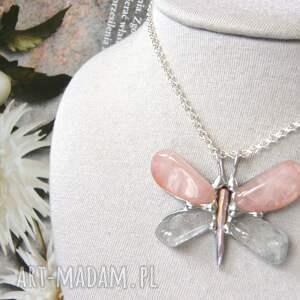 naszyjniki wisiorek z-kamieni z łańcuszkiem: motyl