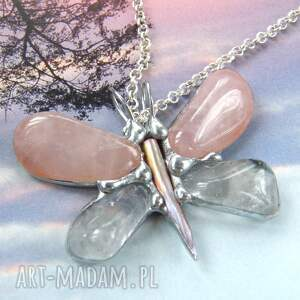 naszyjniki motyl wisiorek z łańcuszkiem