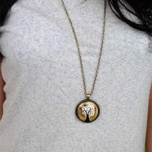 nietypowe naszyjniki medalion witraż - duży z