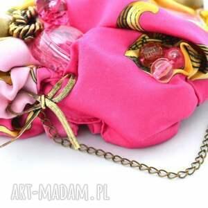 ręcznie zrobione naszyjniki naszyjnik włóż róż handmade