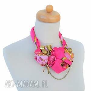 wisior naszyjniki włóż róż naszyjnik handmade