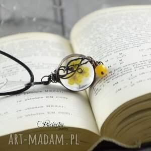 naszyjniki naszyjnik yellow - z prawdziwymi