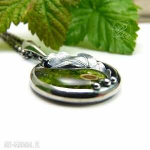 natura naszyjniki yin yang mini dębowy