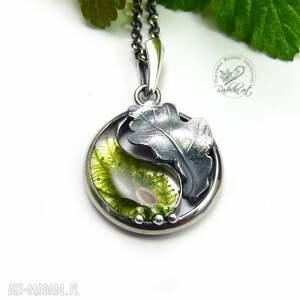 zielone naszyjniki yin yang yin mini dębowy