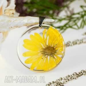hand-made naszyjniki naszyjnik-z-kwiatem z1315 naszyjnik z prawdziwym