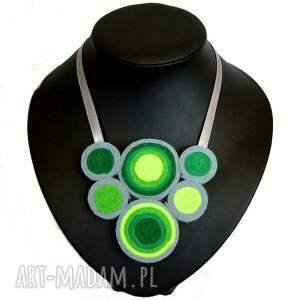 pomysł na świąteczny prezent zakrętasy w zieleni - naszyjnik