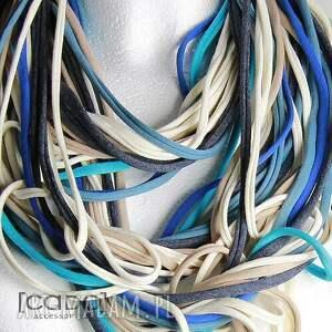 naszyjniki: zamotka dzianinowy naszyjnik szalik szal apaszka blue bell - chusta