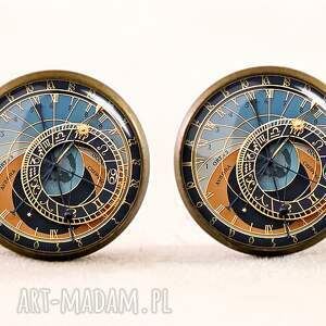 unikalne naszyjniki medalion zegar praski - z