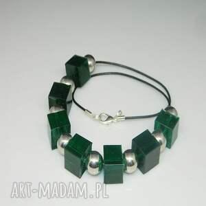 esterka naszyjniki: zielone kostki N51 - jedyny naszyjnik