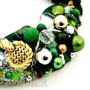 urokliwe naszyjniki naszyjnik zielono mi handmade