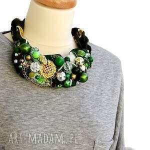 OHEVE HandmadeDesign naszyjniki: zielono mi naszyjnik handmade - złoty zielony