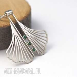 Jachyra Jewellery naszyjniki: Zielony miłorząb - biżuteria ze srebra srebrna