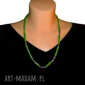 zielone naszyjniki uniwersalny zielony naszyjnik