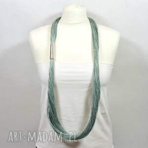 PMPB Style naszyjniki naszyjnik lniany zielony, prosty