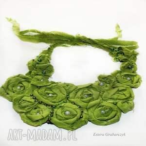 zielone naszyjniki zielony naszyjnik