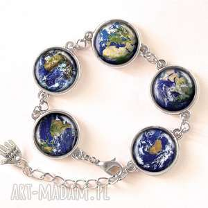 ziemia naszyjniki niebieskie - medalion z łańcuszkiem