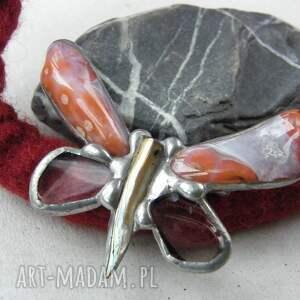 ręcznie wykonane naszyjniki broszka-motyl zimowy naszyjnik filcowy z agatowym