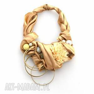 nietypowe naszyjniki naszyjnik złote piaski handmade