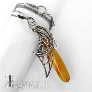 srebrny naszyjniki złoty anioł naszyjnikz