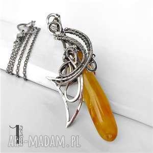 naszyjniki srebrny złoty anioł naszyjnikz