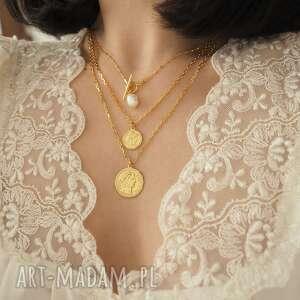 wyjątkowe naszyjniki perła złoty kosteczkowy naszyjnik