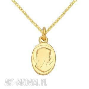 naszyjniki naszyjnik złoty łańcuszek z medalikiem