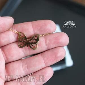 oryginalne naszyjniki motyl złoty