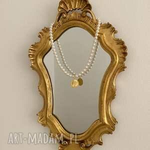 hand made naszyjniki naszyjnik złoty z pereł swarovski®