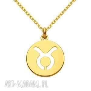 hand-made naszyjniki złoty naszyjnik z zodiakiem byka
