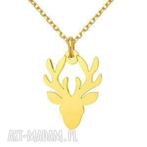 naszyjniki złoty naszyjnik z jeleniem