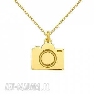 naszyjniki modny złoty naszyjnik z aparatem