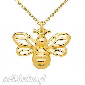 unikatowe naszyjniki modny złoty naszyjnik z pszczółką